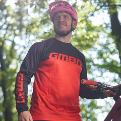 GMBN Descent Jersey Long Sleeve - Red & Black