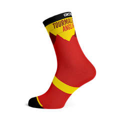 GCN Club Sock 028 - Red and Yellow