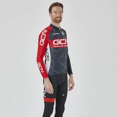 GCN Pro Team Winter Jersey - Grey & Red