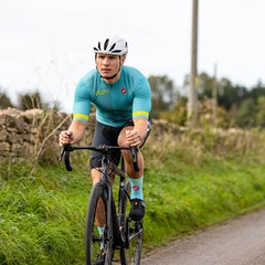 GCN Castelli Competizione 2 Turquoise and Lime Jersey