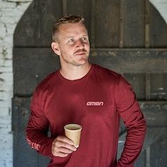 GMBN Label Maroon Long Sleeve T-Shirt