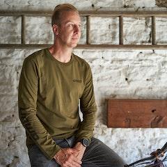 GMBN Label Khaki Long Sleeve T-Shirt