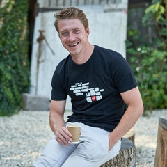 GCN Cobbled Classics Red Stone T-Shirt