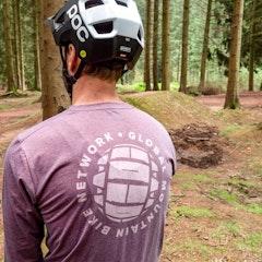 GMBN Traverse Long Sleeve Tech T-Shirt - Maroon Tyre