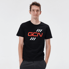 GCN Stripes T-Shirt - Black & Red
