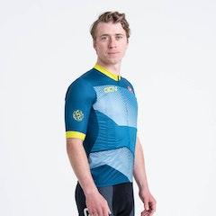 GCN Castelli Competizione 2 Blue and Lime Jersey