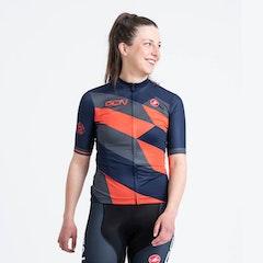 GCN Castelli Women's Competizione 2 Orange and Blue Jersey
