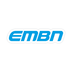 EMBN Blue Word Logo Sticker