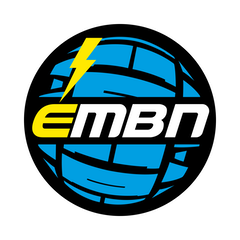 EMBN Black & Blue Logo Sticker