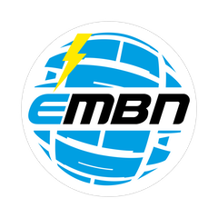 EMBN White & Blue Logo Sticker