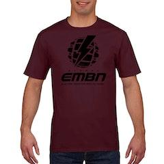 EMBN Classic T-Shirt - Burgundy & Black