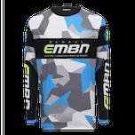 EMBN Camo Team Jersey Long Sleeve - Grey & Blue