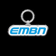 EMBN Blue Word Logo Keychain
