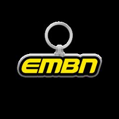 EMBN Yellow Word Logo Keychain