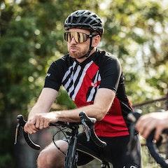 GCN Stripes Fan Jersey - Red & Black