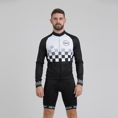 GCN Contrast Edition Long Sleeve Fan Jersey - Black & White