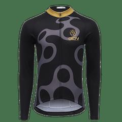 GCN Fan Kit Long Sleeve Jersey - Black & Gold