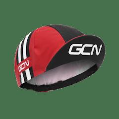 GCN Stripes Cycling Cap - Red & Black