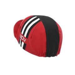 Stripes Cycling Cap - Red & Black