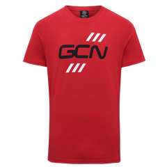 GCN Stripes T-Shirt - Red & Black