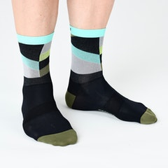 GCN Strive - Calcetines, color verde y negro