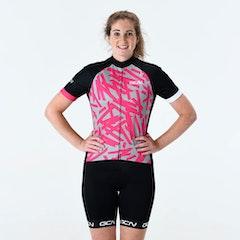 GCN Women's Explore Fan Jersey - Grey & Pink