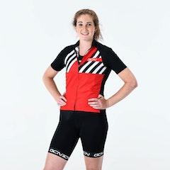 GCN Women's Stripes Fan Jersey - Red & Black