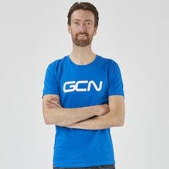 GCN Organic T-Shirt - Azure Blue & White