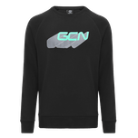GCN Word Shadow Sweatshirt - Black & Green