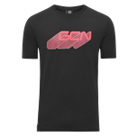 GCN Word Shadow T-Shirt - Black & Red
