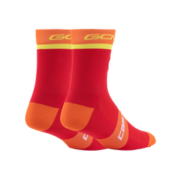 GCN Castelli Orange and Yellow Rosso Corsa Socks
