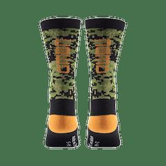 GMBN Camo Green & Orange Socks