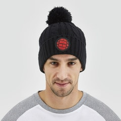 GMBN Cable Knit Beanie - Black