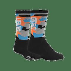 GMBN Camo Socks - Blue & Orange