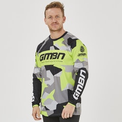 GMBN Camo Team Jersey Long Sleeve - Green & Grey
