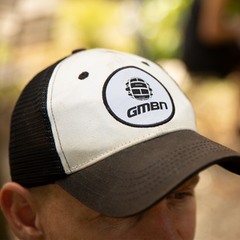 GMBN Contrast Edition Baseball Cap - White & Black