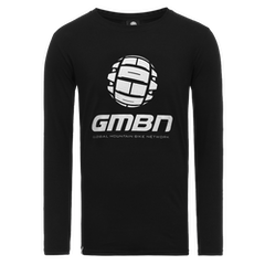 GMBN Classic Long Sleeve T-Shirt - Black & Silver