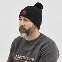 GMBN Plain Knit Beanie - Black