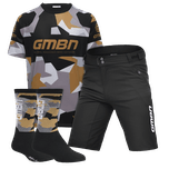 GMBN Team Jersey, Shorts and Socks Bundle - Black & Gold