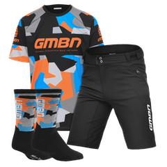 GMBN Team Jersey, Shorts and Socks Bundle - Blue & Orange