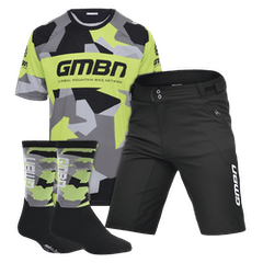 GMBN Team Jersey, Shorts and Socks Bundle - Grey & Green