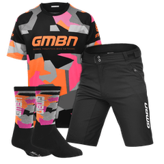 GMBN Team Jersey, Shorts and Socks Bundle - Orange & Pink