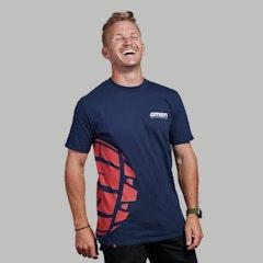 GMBN Tyre T-Shirt - Navy Blue & Red