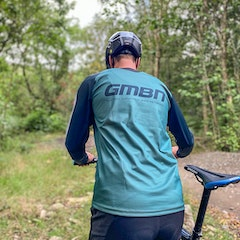 GMBN Descent Jersey Long Sleeve - Sage, Green & White