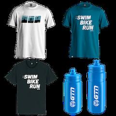 GTN Swim, Bike, Run T-Shirt & Bottle Bundle