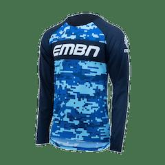 EMBN Camo Blue Long Sleeve Jersey