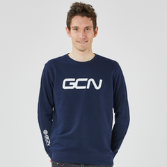 GCN Organic Sweatshirt - Navy Blue & White