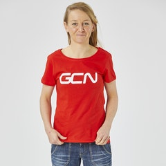 GCN Women's Organic T-Shirt - Red & White