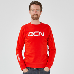 GCN Organic Sweatshirt - Red & White