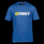 EMBN T-Shirt - Royal Blue & White